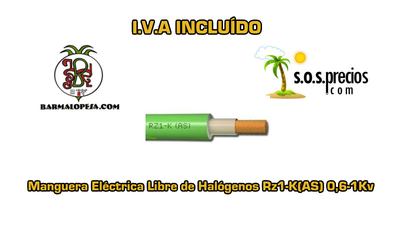 Manguera-electrica-libre-de-halógenos-1X16-Rz1-K(AS) 0,6-1Kv