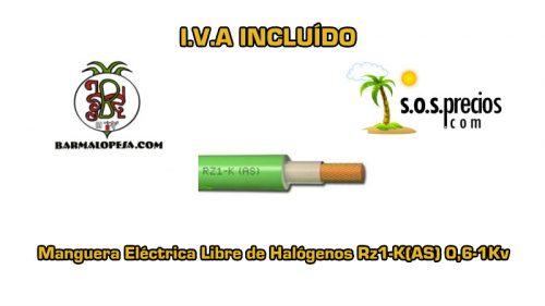 Manguera-electrica-libre-de-halógenos-3X16-Rz1-K(AS) 0,6-1Kv