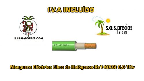 Manguera electrica libre de halógenos 5X2,5 Rz1-K(AS) 0,6-1Kv