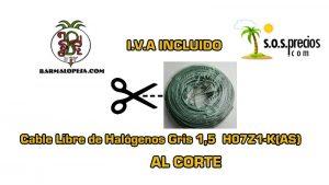 cable-Libre-de-Halógenos-al-corte-gris-1,5-H07Z1-K(AS)