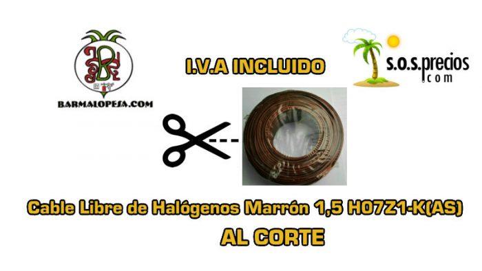 Cable-Libre-de-Halógenos-al-corte-marrón-1,5-H07Z1-K(AS)