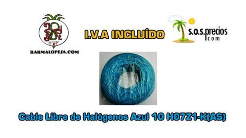 Cable Libre de Halógenos azul 10 H07Z1-K(AS)
