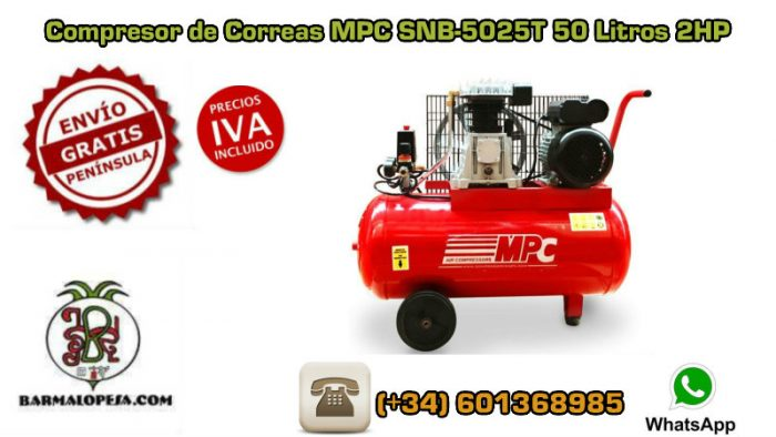 Compresor-de-Correas-MPC-SNB5025T-50-Litros-2Hp
