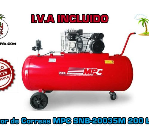 Compresor de Correas MPC SNB-20035M 200 Litros 3HP