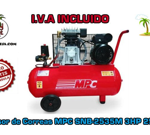 Compresor de Correas MPC SNB-2535M 25 Litros 3HP