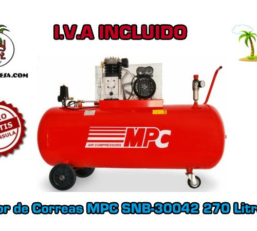 Compresor de Correas MPC SNB-30042 270 Litros 4HP