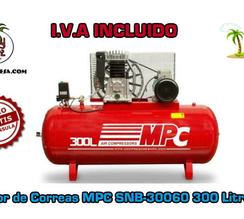 Compresor de Correas MPC SNB-30060 300 Litros 5,5HP
