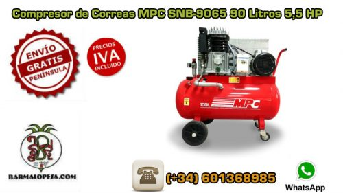 Compresor de Correas MPC SNB-9065 90 Litros 5,5HP