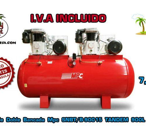 Compresor-de-Doble-Bancada-Mpc SNBT/B-90015-TANDEM-900L-baja-presión