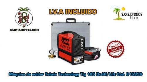 Máquina de soldar Telwin Technology Tig 185 Dc-Hf/Lift Cód. 815956