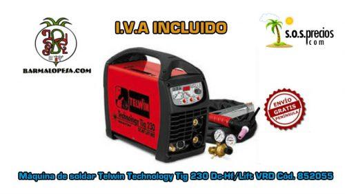 Máquina de soldar Telwin Technology Tig 230 Dc-Hf/Lift VRD Cód. 852055