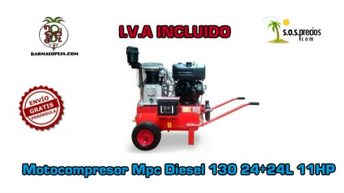 Motocompresor Mpc Diesel 130 24+24L 11HP