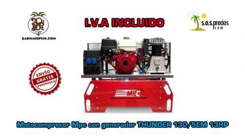 Motocompresor-Mpc-con-generador-THUNDER-130/5EM-13hp