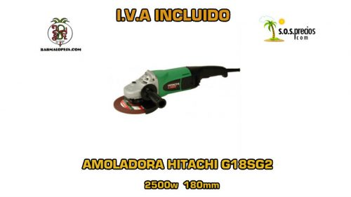 Amoladora Hitachi G18SG2 2500w 180mm