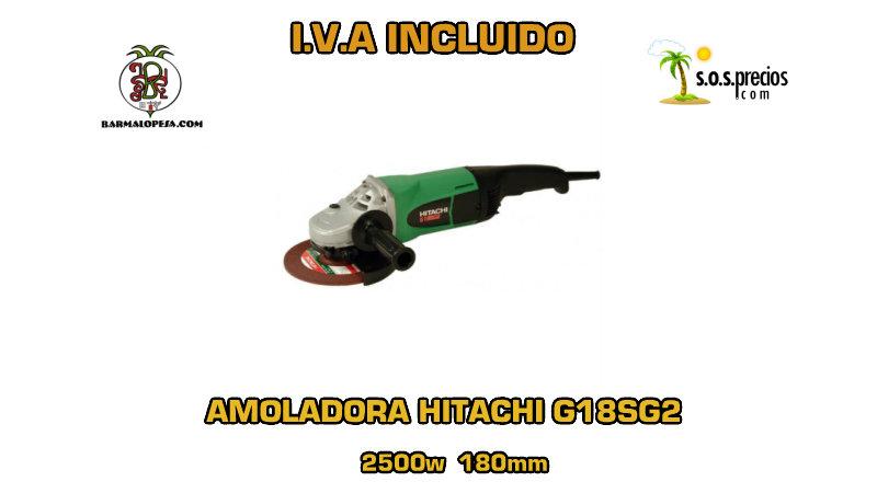 Amoladora Hitachi G18SG2 2500w 180mm
