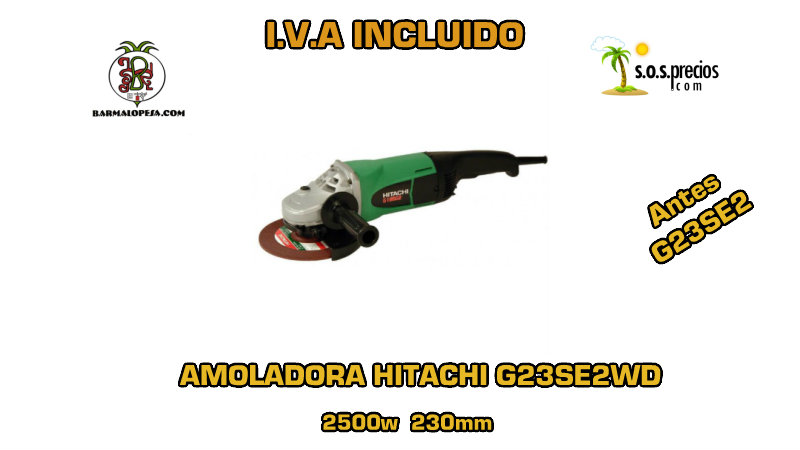 Amoladora Hitachi G23SE2WD 2500w 230mm