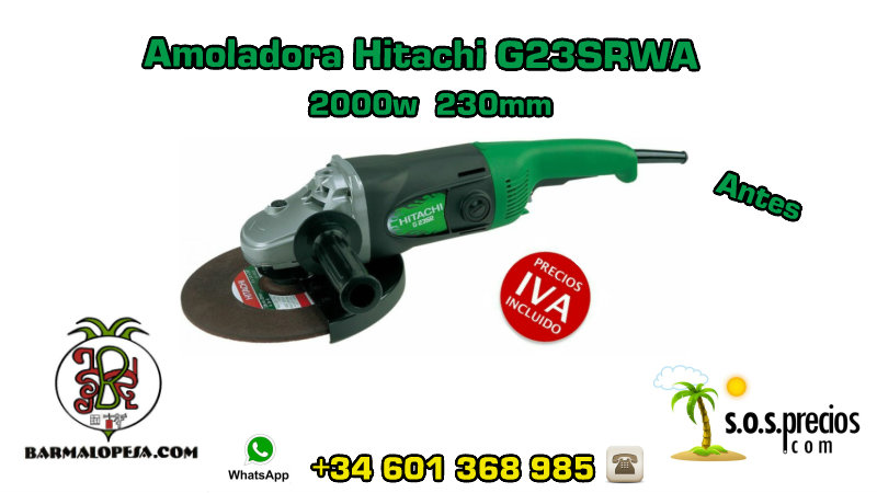 Amoladora Hitachi G23SRWA 2000w 230mm