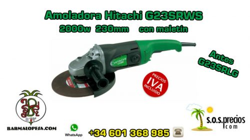 Amoladora Hitachi G23SRWS 2000w 230mm con maletín