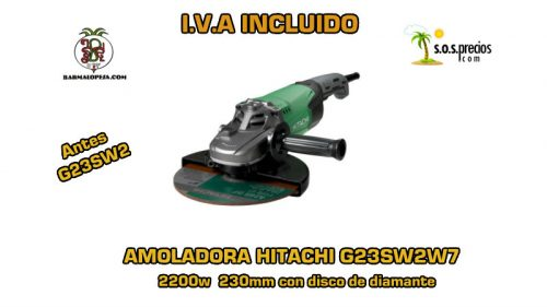 Amoladora Hitachi G23SW2W7 2200w 230mm disco de diamante