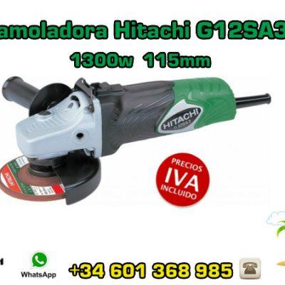 Mini-amoladora Hitachi G12SA3LA 1300w 115mm