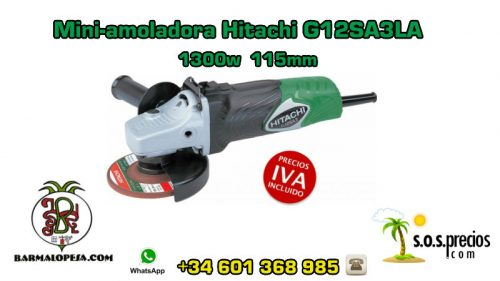 Mini-amoladora Hitachi G12SA3LA 1300w 115mm