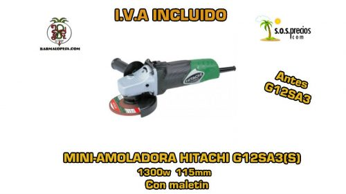 Mini-amoladora Hitachi G12SA3(S) 1300w 115mm