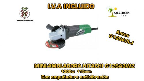Mini-amoladora Hitachi G12SA3W2 1300w 115mm