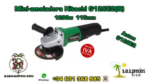 Mini-amoladora Hitachi G12SE2(S) 1200w 115mm