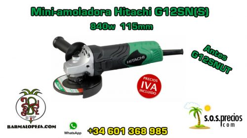 Mini-amoladora Hitachi G12SN(S) 840w 115mm