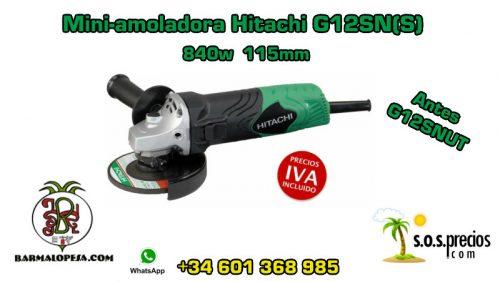 Mini-amoladora Hitachi G12SN(S) 840w 115mm