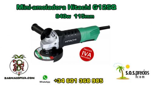 Mini-amoladora Hitachi G12SQ 840w 115mm