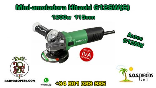 Mini-amoladora Hitachi G12SW(S) 1200w 115mm