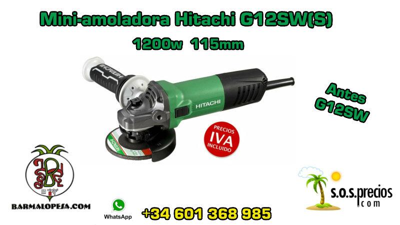 Mini-amoladora Hitachi G12SW(S) 1200w 115mm