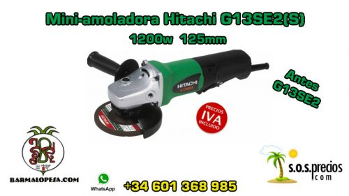 Mini-amoladora Hitachi G13SE2(S) 1200w 125mm