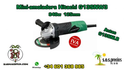 Mini-amoladora Hitachi G13SNW3 840w 125mm