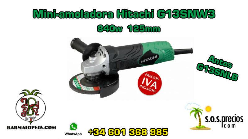 Mini-amoladora Hitachi G13SNW3 840w 125mm