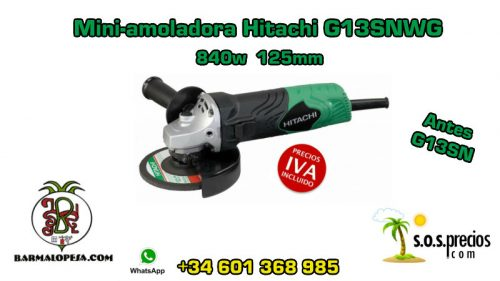Mini-amoladora Hitachi G13SNWG 840w 125mm