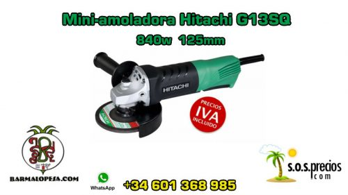 Mini-amoladora Hitachi G13SQ 840w 125mm