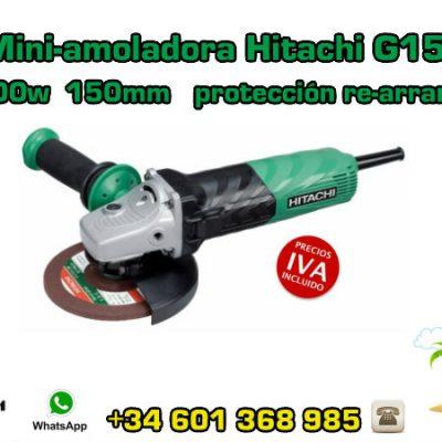 Mini-amoladora Hitachi G15VA 1500w 150mm protección re-arranque