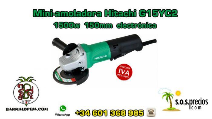 Mini-amoladora Hitachi G15YC2 1500w 150mm electrónica