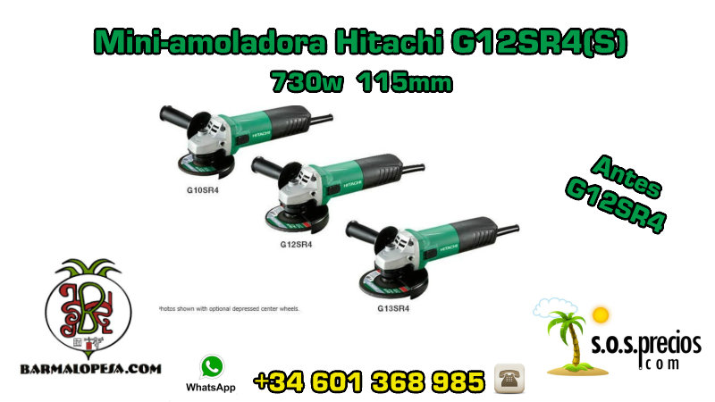 Mini-amoladora Hitachi G12SR4(S) 730w 115mm