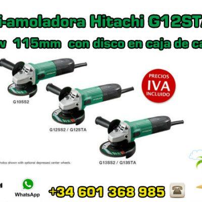 Mini-amoladora Hitachi G12STA(S) 600w 115mm con disco en caja de cartón