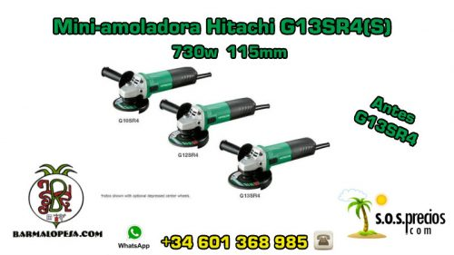 Mini-amoladora Hitachi G13SR4(S)