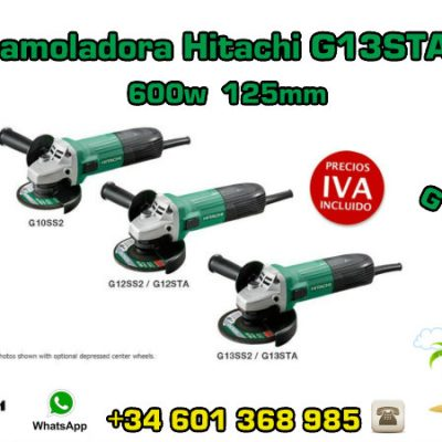 Mini-amoladora Hitachi G13STA(S) 600w 125mm
