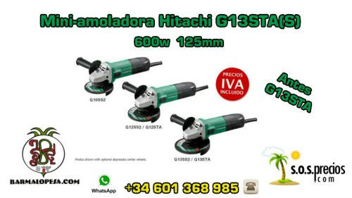 Mini-amoladora Hitachi G13STA(S) 600w 125mm