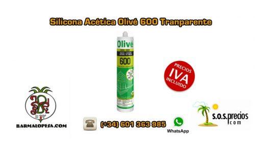 silicona-acética-olivé-600-Transparente