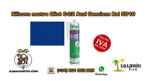 silicona-neutra-olivé-c-22-azul-genciana-ral-5010