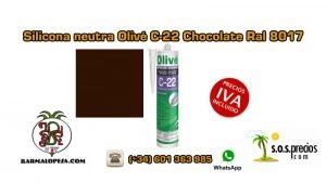 silicona-neutra-olivé-c-22-chocolate-ral-8017