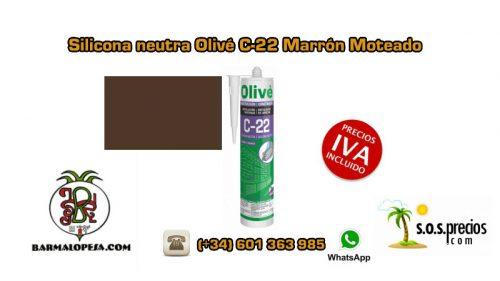 silicona-neutra-olivé-c-22-marrón-moteado
