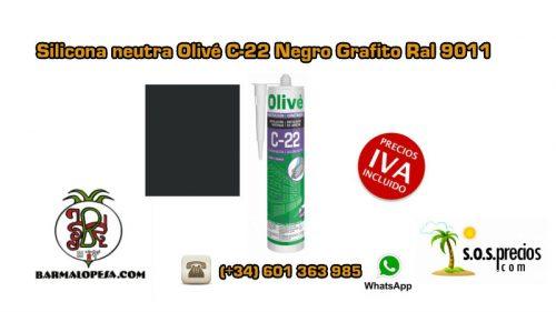 silicona-neutra-olivé-c-22-negra-ral-9011